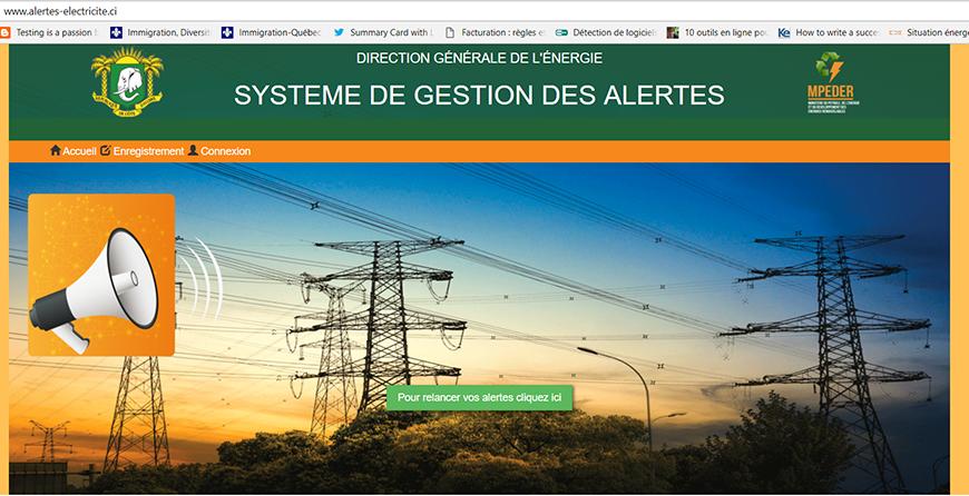 Côte d'Ivoire: alertes-electricite.ci, une plateforme ouverte aux requêtes des consommateurs d'électricité