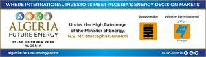 Algeria Future Energy 2018 @ Centre international des conférences d'Alger