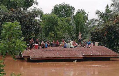 Effondrement d'un barrage hydroélectrique en construction au Laos, au moins six villages submergés