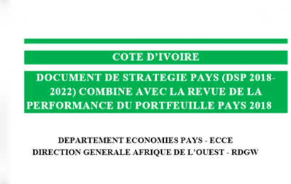 BAD/Côte d'Ivoire: le Document de stratégie pays pour la période 2018-2022 adopté