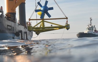 France: l'hydrolienne D10 de Sabella immergée et connectée au large d'Ouessant pour trois ans
