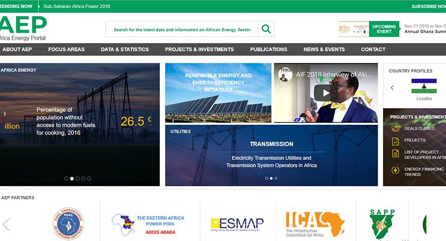 Africa-energy-portal.org, un site institutionnel qui présente l'offre énergétique dans les pays africains