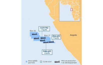 """Angola: de nouveaux investissements prévus sur le bloc 17 pour maintenir la production """"au dessus de 400 000 barils de pétrole jusqu'en 2023"""""""