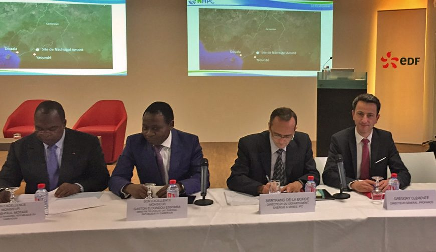 """Cameroun: accords """"définitifs"""" signés pour la réalisation du projet d'aménagement hydroélectrique de Nachtigal (EDF)"""