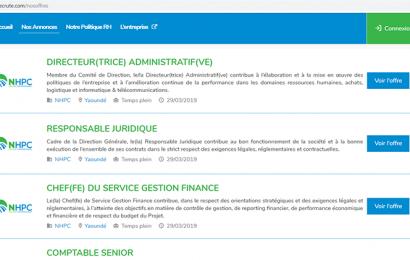 Cameroun: le maître d'ouvrage du projet hydroélectrique Nachtigal lance un site web dédié aux offres d'emploi liées à ses besoins