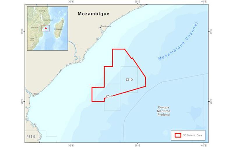 Mozambique: les données sismiques finales 3D des blocs Z5-C et Z5-D sont disponibles (CGG)