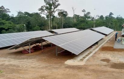 Cameroun: la liaison d'un parc solaire de 125 kWc à la centrale thermique de Lomié achevée