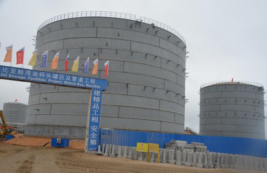 Le nouveau dépôt pétrolier de la Namibie a reçu son premier arrivage de carburant