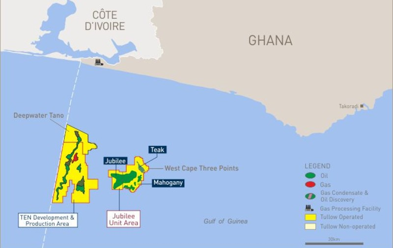 Ghana: début de la campagne de forages 2021 dans les champs pétroliers Jubilee et TEN